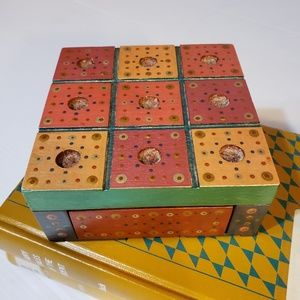 Other - Handmade Artisan Wooden Box Stash Global Decor